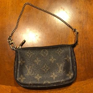 Authentic Louis Vuitton mini pouchette